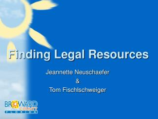 Finding Legal Resources