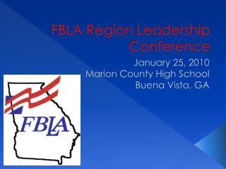 FBLA Region Leadership Conference