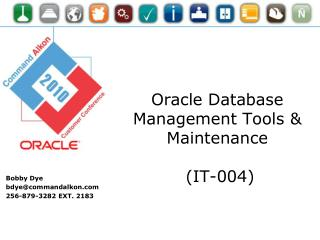 Oracle Database Management Tools & Maintenance  (IT-004)