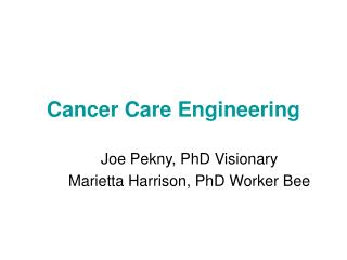 Cancer Care Engineering