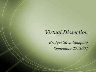 Virtual Dissection