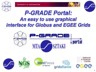 P-GRADE Portal: An easy to use graphical interface for Globus and EGEE Grids