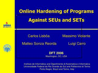 Online Hardening of Programs Against SEUs and SETs