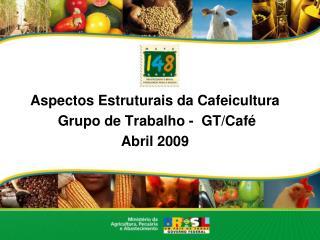 Aspectos Estruturais da Cafeicultura  Grupo de Trabalho -  GT/Café Abril 2009