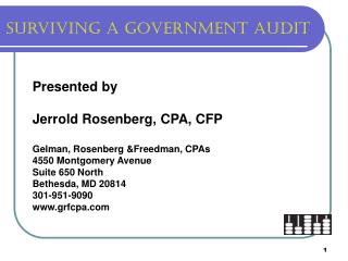 Surviving a Government audit