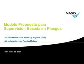 Modelo Propuesto para Supervisión Basada en Riesgos
