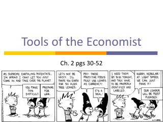 Tools of the Economist