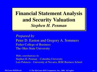Financial Statement Analysis and Security Valuation Stephen H. Penman
