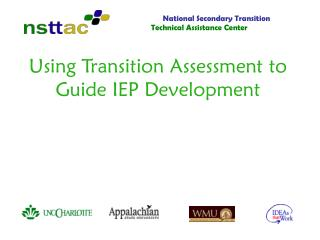 Using Transition Assessment to Guide IEP Development