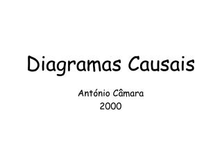 Diagramas Causais