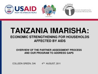 Tanzania IMARISHA: Economic strengthening for households Affected by AIDS