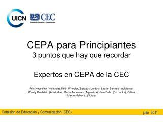 CEPA para Principiantes 3 puntos que hay que recordar