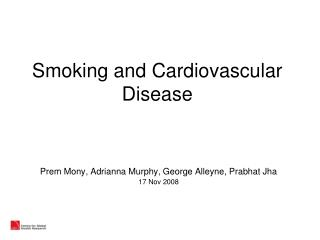 Smoking and Cardiovascular Disease