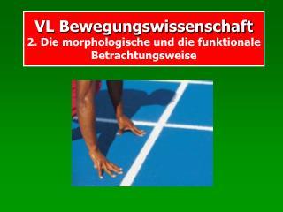 VL Bewegungswissenschaft  2. Die morphologische und die funktionale Betrachtungsweise