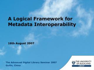 A Logical Framework for Metadata Interoperability