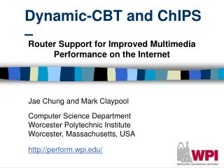 Dynamic-CBT and ChIPS �