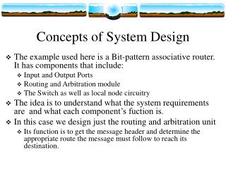Concepts of System Design