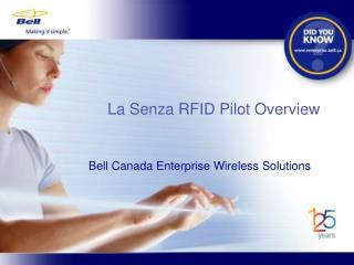 La Senza RFID Pilot Overview