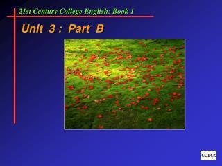 Unit  3 :  Part  B