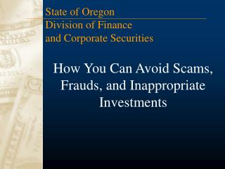 How You Can Avoid Scams, Frauds, and Inappropriate Investments