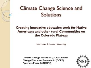 Climate Change Science and Solutions