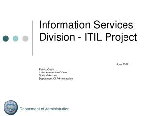 ITIL stands for  I.T. Infrastructure Library