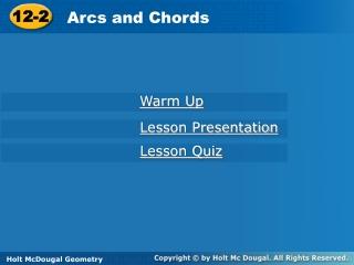 10.3  Arcs  Chords