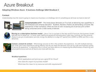 Azure Breakout
