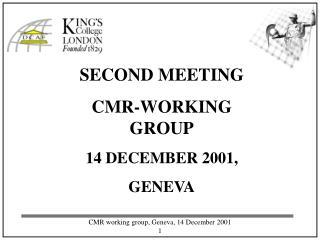 SECOND MEETING  CMR-WORKING GROUP 14 DECEMBER 2001, GENEVA
