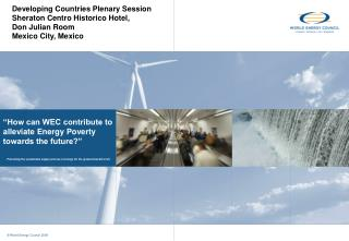 """""""How can WEC contribute to alleviate Energy Poverty  towards the future?"""""""