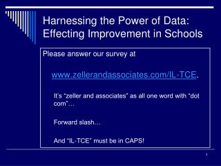 Harnessing the Power of Data: Effecting Improvement in Schools