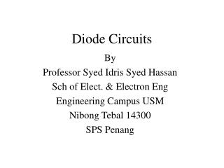 Diode Circuits