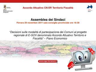 Accordo Attuativo CN-ER Territorio Fiscalità