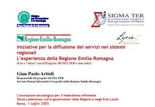 """Uso e """"riuso"""" in Emilia-Romagna con il Progetto SIGMA TER    ( e non solo! )"""