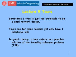 Lecture 9 Tours