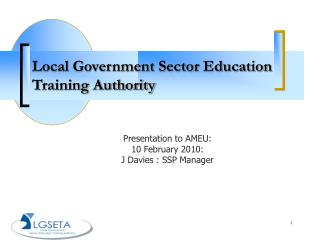 Local Government Sector Education Training Authority