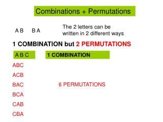 Combinations + Permutations