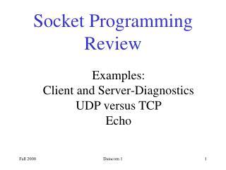 Socket Programming Review