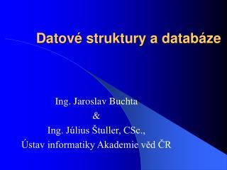 Datové struktury a databáze