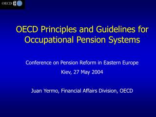 Conference on Pension Reform in Eastern Europe Kiev, 27 May 2004