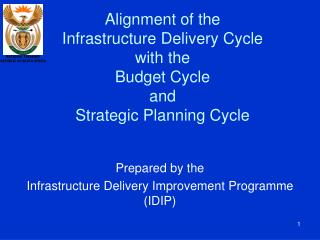Alignment of the Infrastructure Delivery Cycle with the  Budget Cycle and Strategic Planning Cycle