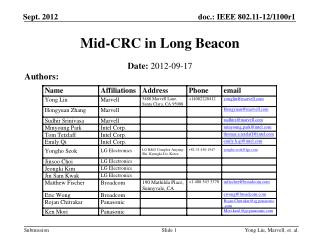 Mid-CRC in Long Beacon