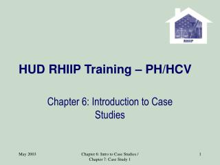 HUD RHIIP Training   PH