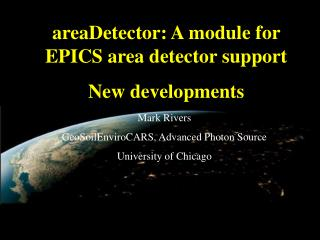 areaDetector: A module for EPICS area detector support New developments