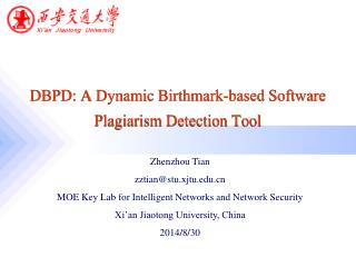 DBPD: A Dynamic Birthmark-based Software Plagiarism Detection Tool