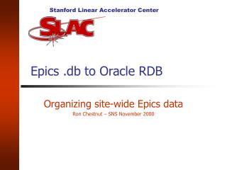 Epics .db to Oracle RDB