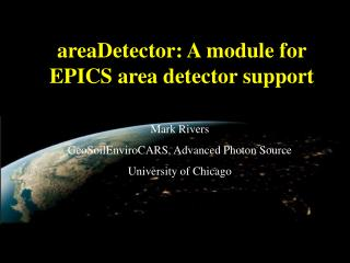 areaDetector: A module for EPICS area detector support
