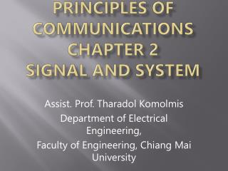 Principles of Communications Chapter 2  Signal and System