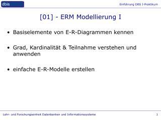 [01] -  ERM Modellierung  I