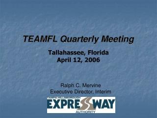 TEAMFL Quarterly Meeting